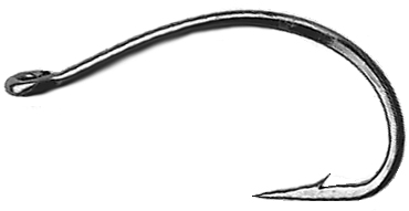 1150 Heavy Wide Gape 1X Scud Hook 100 Pack