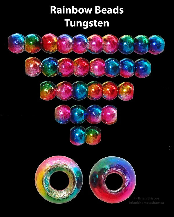 Rainbow Tungsten Beads - 50 pk.