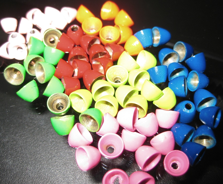 Hot Color Brass Cone Heads-50 Pack