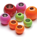 Painted Colored Brass Beads-50 Pack